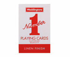 Waddingtons Number 1 Linen Finish Superior Classic Quality Playing Cards Decks Blue