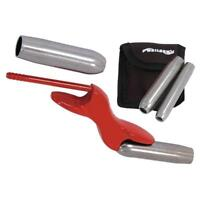 Steel Barrel Brick Jointer with 4 interchangeable sizes - pointing tool
