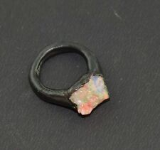 Natural High Fire Raw Rough Opal Gemstone Teen Stackable New Woman Fashion Ring