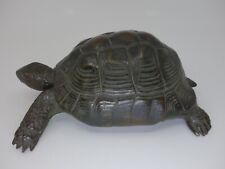 SELTEN Werbung Schildkröt Puppen Schildkröte Turtle Bronze Puppe  Doll