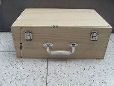 SOLID PINE WOODEN BOX  WITH CARRY HANDLE DECOUPAGE MULTI USE CRAFT 36*24*14.5