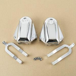 Chrome Bar & Shield Rear Axle Covers For Harley Softail FLSTC FLSTN FLSTSB 08-17