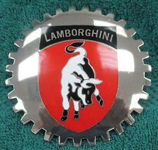 Rare Lamborghini Grille Badge Chrome Cloisonne No Drill Grill Mounting