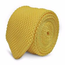 Frederick Thomas jaune citron Skinny laine tricot Cravate pointus fin ft2222
