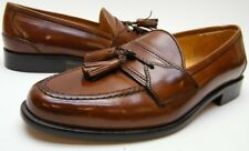 MENS JOHNSTON & MURPHY CELLINI BROWN TASSEL LEATHER LOAFER DRESS SHOES SZ 8 M 8M