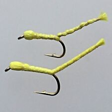 Fly Fishing Flies INCHWORM / Maggot selection 8 Flies for trout fishing #120