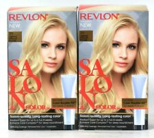 2 Boxes Revlon Salon Color 10 Lightest Natural Blonde Permanent Hair Dye