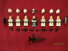 LEGO Star Wars Minifigure LOT. Commander Wolfe & Clone Troopers , Weapons