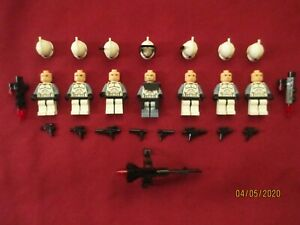 LEGO Star Wars Minifigures LOT. Commander Wolffe & Clone Troopers , Weapons
