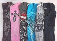 Mixed Affliction Women's Lot of 6 Graphic Tee Shirts Medium M [BI16640]