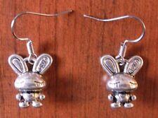 Boucles d'oreilles argentées lapin love 17x14 mm