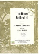 """HAHN """"THE GREEN CATHEDRAL"""" SHEET MUSIC-PIANO/VOCAL/GUITAR-HIGH VOICE-1944-NEW!!"""