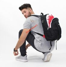 shark mouth backpack Bape Head school bag for hiking traveling adults teens men
