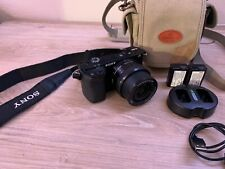Black Sony Alpha α6000 w/ Kit16-50mm, 4619 Shutter count, 3x Batteries and case