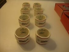 MASON'S CHRISTMAS VILLAGE SET OF EIGHT NAPKIN RINGS NEW AND BOXED