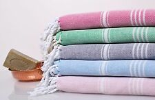 Turkish Towel Peshtemal Pestemal Red, Grey, Green, Blue, Pink Fouta