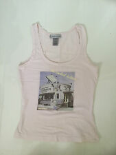 WAREHOUSE PALE PINK 'ICE CREAM PARLOUR' PRINT VEST TOP – UK 6