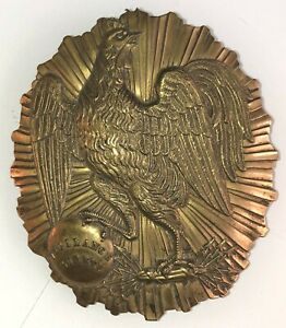Vintage French Brass Badge/Plaque With 'Vigilance Surete' (Police?)