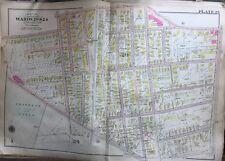 1904 G.W. BROMLEY, DORCHESTER, BOSTON MA, OLD GIBSON SCHOOL, COPY PLAT ATLAS MAP