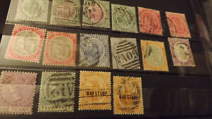 St Kitts Nevis 16 stamps used range mixed condition values to 6d