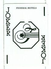"Single Playing Card Vintage Joker ""Federal Hotels Joker"", circa 1980's"