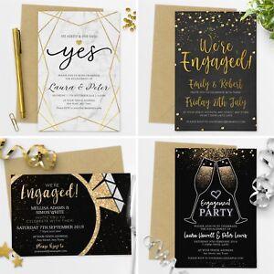 Premium Personalised Engagement Party Invitations Invites with Envelopes