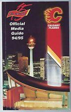 1994-95 Calgary Flames NHL Hockey Media Guide Record Book
