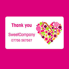 240 x Personalised Mini Sweet Shop Thank you Favour Stickers Seals Label -378