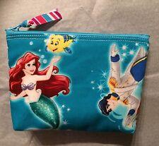 "Disney Little Mermaid Handmade 6"" All Purpose Zipper Pouch"