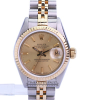 Rolex Datejust Two-tone Factory Champagne Dial Gold Automatic Ladies Watch-Quick