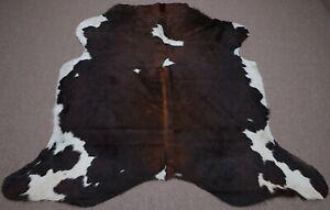 Large Columbian Dark Chocolate Cowhide rug 6x 6.3 ft -3207