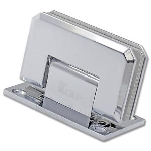 KOLF 90° Mirror Finish Wall to Glass Shower Door Hinge Chrome Plated
