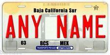 Baja California Sur Mexico Any Name Retro Look Novelty Auto Car License Plate