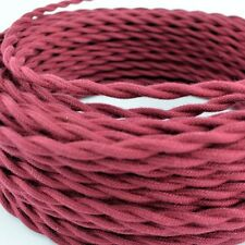 Vintage Wine Cotton Cloth Covered Twisted Electrical Wire - Lamp Cord -