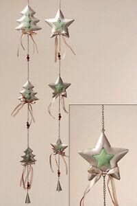 Girlande Metall/Stoff 100 cm (675750) NEU Hänger Weihnachtsdeko Winterdeko