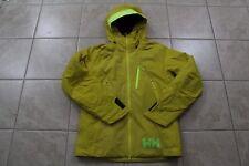23 New Helly Hansen HH Mens Stuben Yellow Ski Jacket Winter Tech Size Small $400