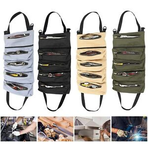 Roll Tool Roll Multi-Purpose Tool Roll Up Bag Wrench Roll Pouch Hanging Carrier