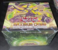 10X Yugioh MAXIMUM CRISIS SPECIAL EDITION Display Box FACTORY SEALED English