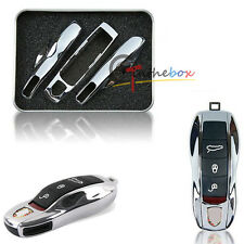 Chrome Remote Smart Key Shell Holder Cover: Porsche Cayenne Panamera Macan 911