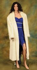 "White Faux Fur Coat By Dennis Basso   ""CLEARANCE"""