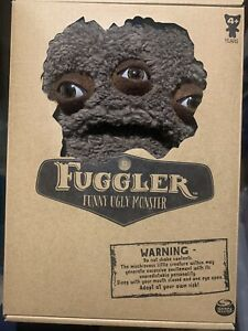 "NEW Annoyed Alien 3 Eyes Fuzzy Brown/Fuggler Funny Ugly Monster 9"" Inch Plush"