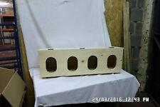 UNIVERSAL HAND MADE CHICKEN  4 BIRD NEST BOX FOR INSIDE OUTSIDE COOP HUT HOUSE