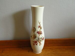 ZSOLNAY PECS Hungary Porcelain 25.5cms Tall Vase Floral & Butterfly Decoration
