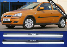 Vauxhall Corsa C SXi 2 Door Sill Kick Plates Sills Protectors