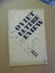1933 SOVIET CULTURE REVIEW Magazine Russian Constructivism Art Literature RARE
