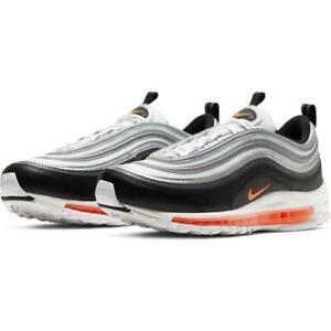 Nike Air Max 97 (Mens Sizes) Shoes CW5419 101 Silver Orange