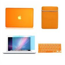 "4in1 Rubberized ORANGE Case for Macbook White 13"" +Keyboard Cover+LCD Screen+Bag"