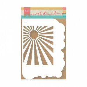 Flex-Schablone Stencil Mask Wolken-Rand Sonne Sun Clounds Marianne Design PS8024