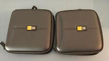 Lot of 2 - case logic cd cases, Black, Each Holds 24 Disc