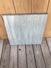 Werzalit Commercial Indoor/Outdoor Patio Table Tops Greyish Blue Wood Markings